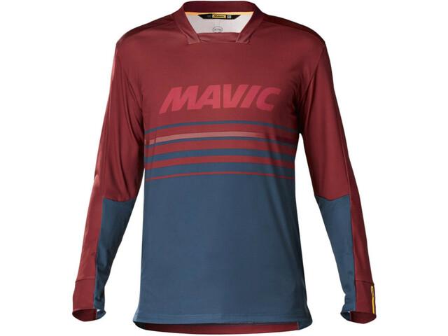 Mavic Deemax Pro LS Jersey Herren red poseidon